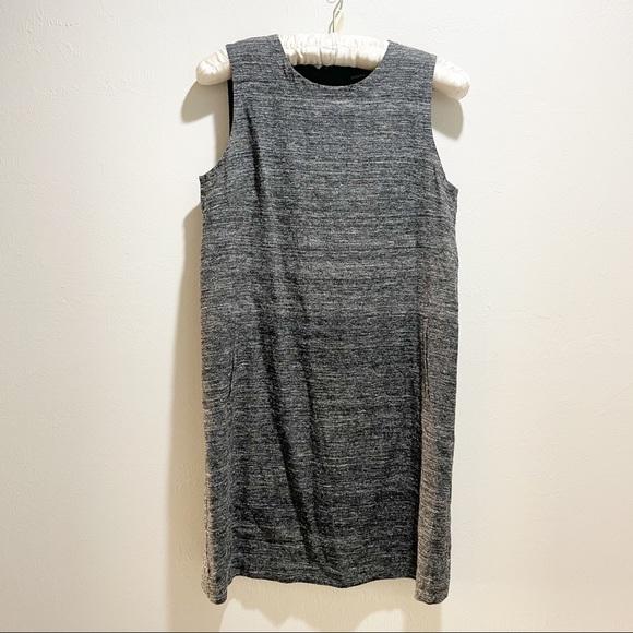EILEEN FISHER Silk Noil /Organic Linen Shift Dress